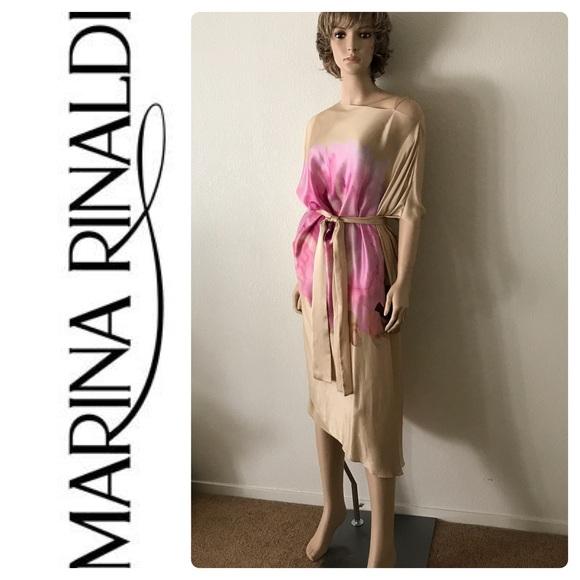 Marina Rinaldi Dresses New Plus Size Pure 100 Silk Dress Poshmark